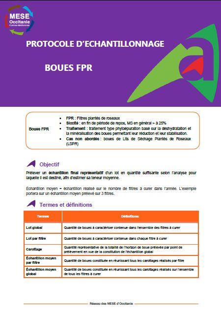 Fiche prélèvement du réseau des MESE Occitanie : Boues de Filtres plantés de roseaux