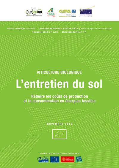L'entretien du sol en viticulture biologique : réduire les coûts de production et la consommation en énergies fossiles