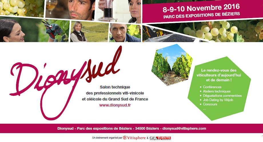 Dionysud, salon viticole & oléicole du 8 au 10 novembre