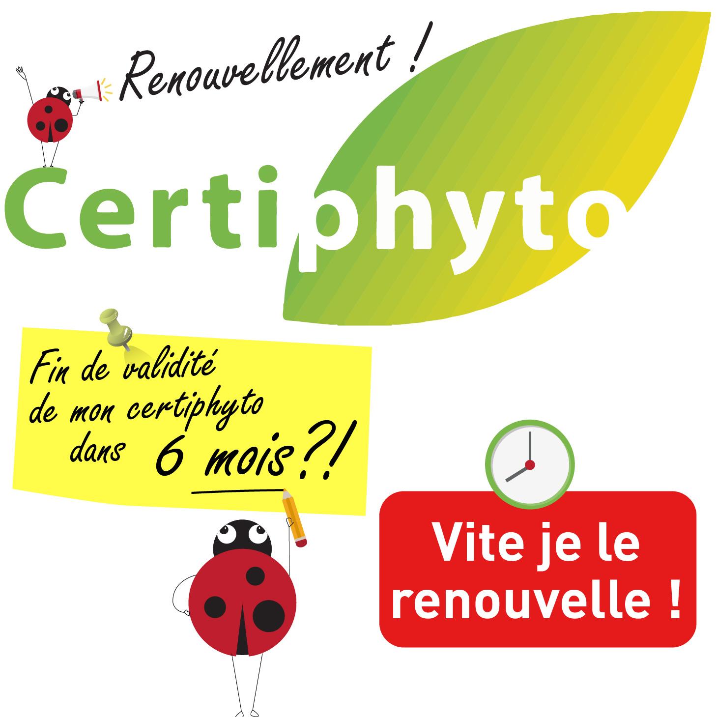 Renouvellement du certiphyto : date à vérifier dès aujourd'hui !